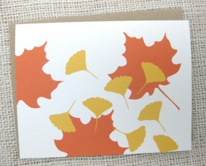 graphic silhouette leaves