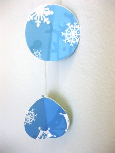 illustrated paper ornament