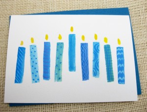 Hanukkah handmade card