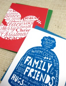 Blue Winter had holiday card