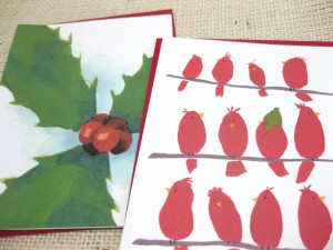 funny holiday red birds