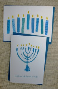 modern eight candles card