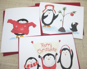 red holiday cards