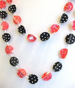 handmade valentine garland