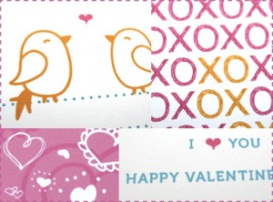pink heart handmade cards