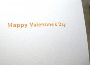 modern valentine card