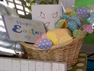 pok a dot garland easter cards