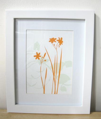 modern digital flower print