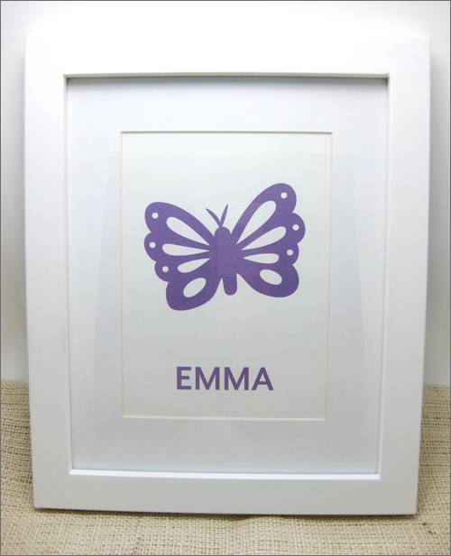 purple butterfly art