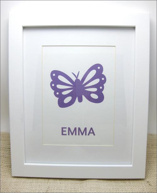 purple butterfly art