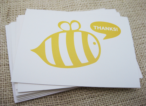 Bee Thank You notes
