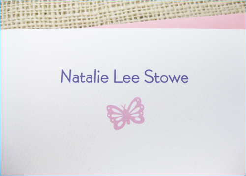 personalized name stationery