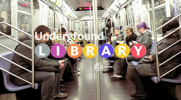picture of underground library in subway