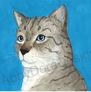 gray cat art