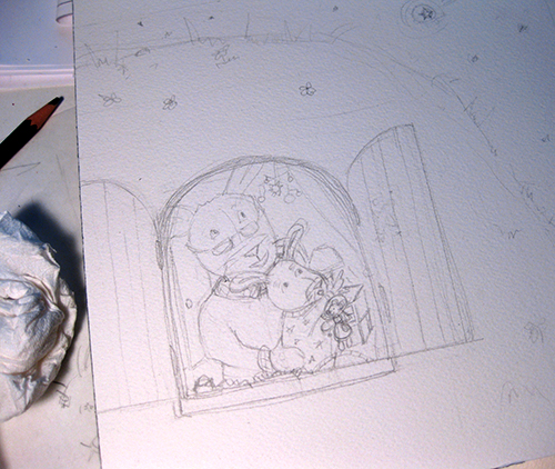 sketch of children's illustration