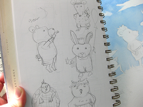 bear rabbit characters