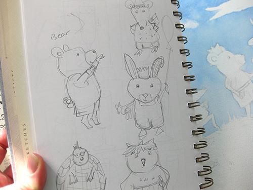 bear rabbit characters