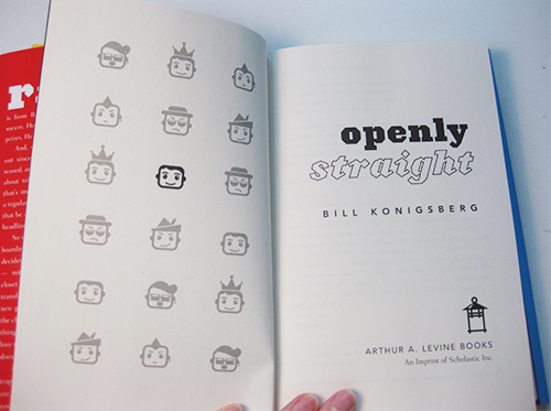 photo of title page of YA novel Openly Straight