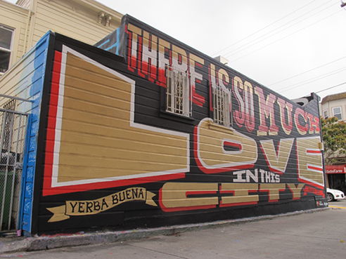 mural by type designer Pablo Medina
