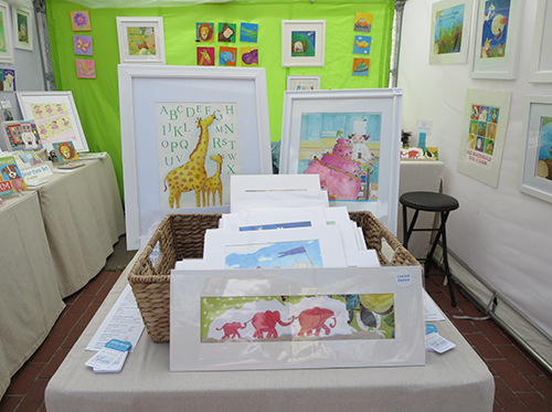 photo of the center table featuring watercolor painting for children