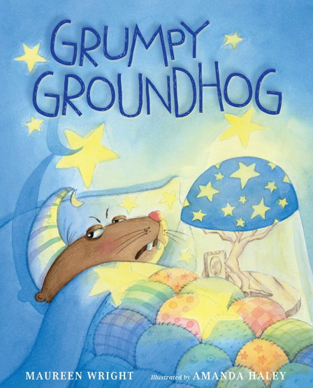 cover of picture book called Grumpy Groundhog