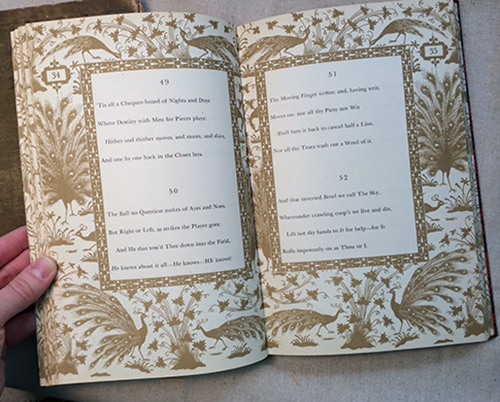Rubaiyat omar khayyam book interior pages