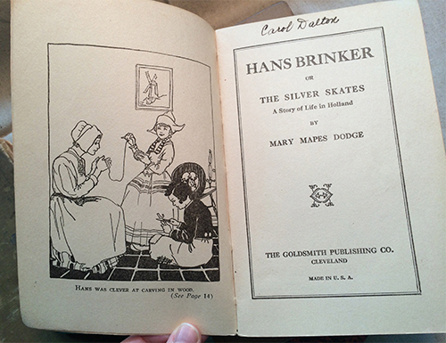 photo of early 1900's edition of Hans Brinker