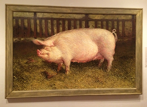 oil painting portrait of pig by Jamie Wyeth