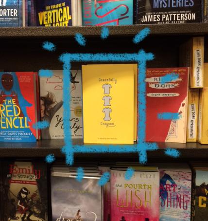 photo of YA novels on shelf
