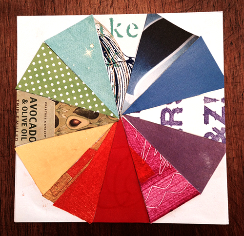 collage color wheel