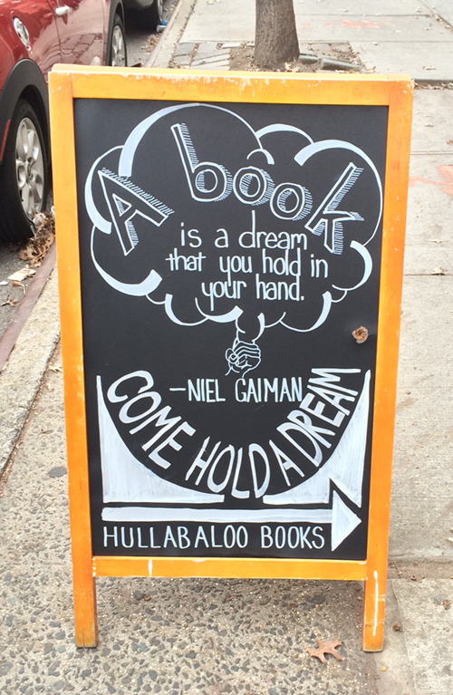 Niel Gaiman quote on books