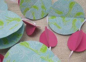 handmade paper garland