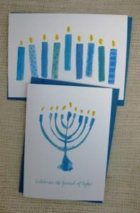 modern eight candles card