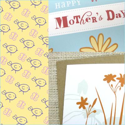 unique flower mom cards