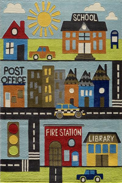 city children's illustration