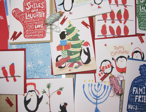 funny handmade holiday cards