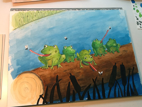 frog children's illustration art