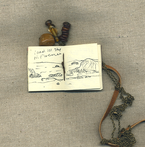 photo of book necklace