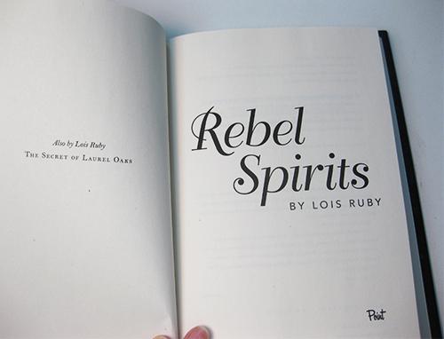 YA novel title page image