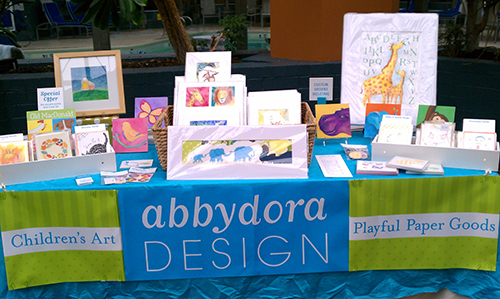 photo of children's art at Beyond the Bump new mom event