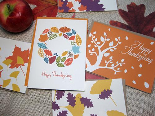 photo of AbbyDora Design thanksgiving fall cards