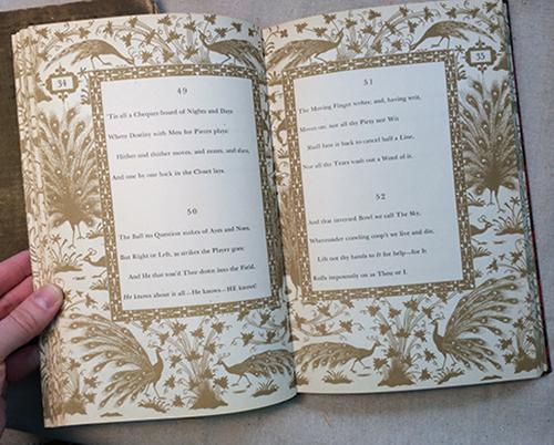 Rubaiyat omar khayyam book interior pages