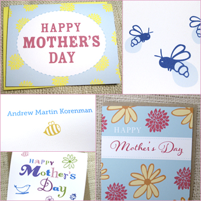 sale on mother's day cards and new baby cards