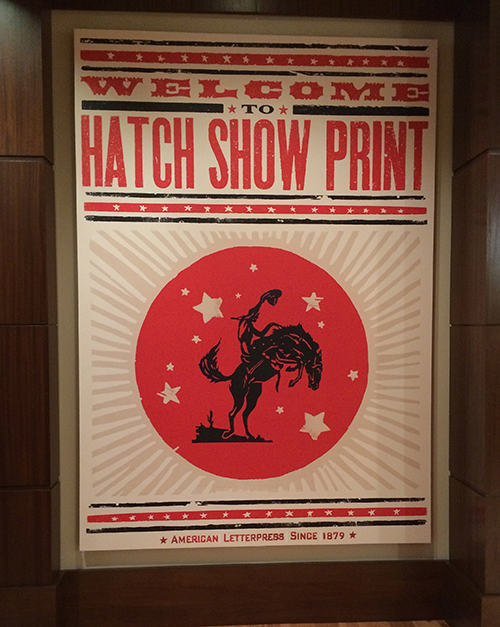 poster of Hatch Show Print store