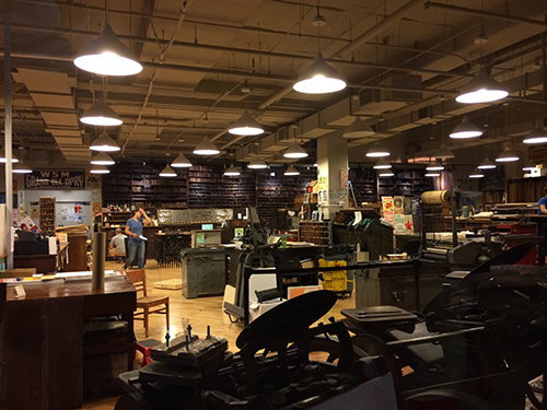 photo of letterpress studio in Nashville