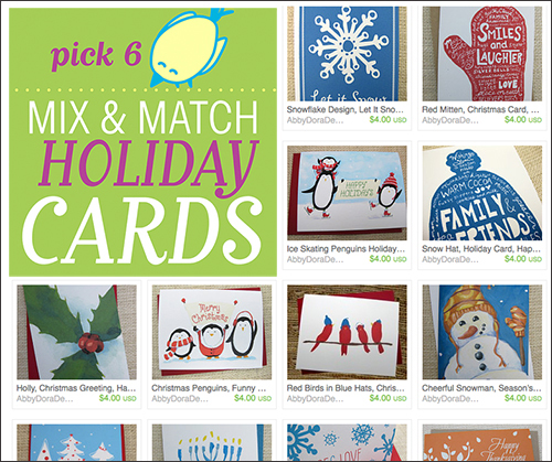 AbbyDora Design 2014 build your own holiday card set