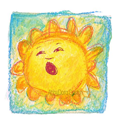 nursery room sunshine artwork