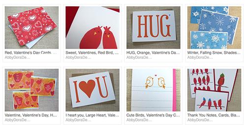 handmade valentines by abby dening