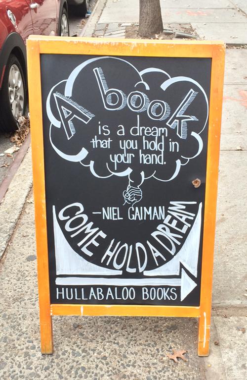 Niel Gaiman quote on books