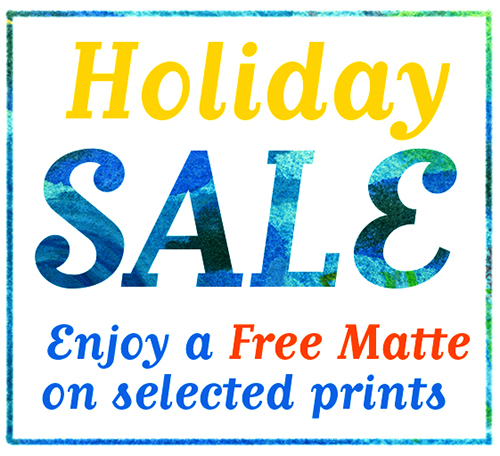 get a free matte on selected art prints at AbbyDora Design's Etsy Shop